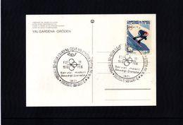 Italien / Italy 1970 Val Gardena World Skiing Champioship Interesting Postcard - Ski