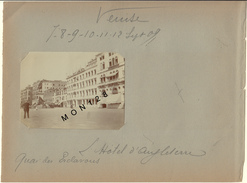 ITALIE-VENISE/VENEZIA -14 PHOTOS DIVERSES DE 1909 -DIM 10x8 Cms -PHOTOS D'EPOQUE NON COLLEES (pages D'un Album Ancien) - Lieux