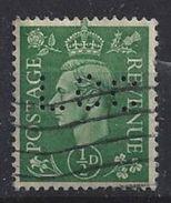 GB 1941  KG VI. 1/2d (o) SG.485. Mi.221. (perfin.LCC) - Great Britain