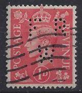 GB 1941  KG VI. 1d (o) SG.486. Mi.222. (perfin.FR W) - Great Britain