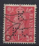 GB 1941 KG VI. 1d (o) SG.486. Mi.222. (perfin.K EC) - Great Britain