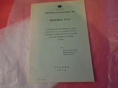GEOLOGIE ANGOLA : ALGUNAS ROCHAS DO PRECAMBRICO DA REGIAO DE VILA PAIVA COUCEIRO QUILENGUES CHICOMBRA CALUQUEMBE 1975 - Livres, BD, Revues