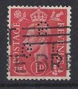 GB 1941  KG VI 1d (o) SG.486. Mi.222. (perfin.G.F S) - Great Britain