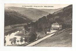 CPA LA VALLA DE GIER BARRAGE DE LA RIVE HOTEL CHAVOT LOIRE - Autres Communes