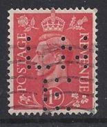 GB 1941  KG VI. 1d (o) SG.486. Mi.222. (perfin.LN E) - Great Britain