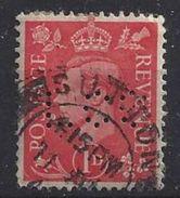 GB 1941  KG VI. 1d (o) SG.486. Mi.222. (perfin.WB D) - Great Britain