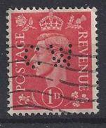 GB 1941  KG VI. 1d (o) SG.486. Mi.222. (perfin.CW) - Great Britain