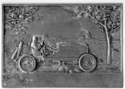Saint Aubin Sur Mer Plaque Commémorative Bronze Course Automobile L.Cariat Graveur 1927 Très Bon état RARE - Bronzi
