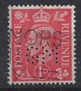 GB 1941  KG VI. 1d (o) SG.486. Mi.222. (perfin.GM) - Great Britain