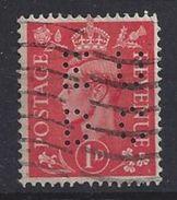 GB 1941  KG VI. 1d (o) SG.486. Mi.222. (perfin.EUDC) - Great Britain
