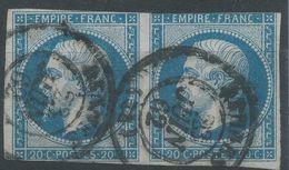 Lot N°37844  Paire Du N°14B, Oblit Cachet à Date De RENNES (34) - 1853-1860 Napoléon III.
