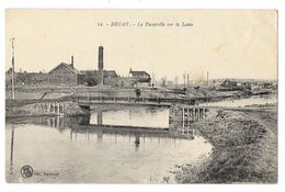 Cpa: 62 BRUAY LA BUISSIERE (ar. Béthune) La Passerelle Sur La Lawe (Usine) 1924  N° 12 (rare) - Altri Comuni