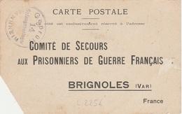WW1 - Carte Postale D Un Prisonnier De Guerre  Du Camp De MANNHEIM - L 2256 - Storia Postale