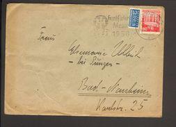 Bizone 20 Pfg.Bauten M.Notopfer A.Brief A.Darmstadt 1950 M.Serienstempel Frankfurter Messe - Bizone