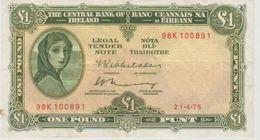 Irlande Eire 0ne Pound 1975 98K 100891 - Ireland