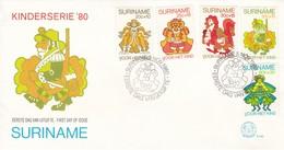 KINDERSERIE'80. SURINAM/SURINAME - CIRCA 1980 - FDC - BLEUP - Surinam