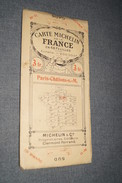 Très Ancienne Carte Michelin,N° 11 , Paris - Châlons S-M.état De Collection,originale - Geographical Maps