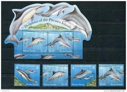 """Pitcairn - Block Nr. 60 Und Mi.Nr. 851 / 854 - """"Delphine"""" ** / MNH (aus Dem Jahr 2012) - Pitcairn"""