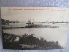 Cochinchine ;saigon ;   La Riviere Pres De L Arsenal ; Sur La Berge ; Les Canons Du Sully - Viêt-Nam
