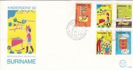 KINDERSERIE 82. SURINAM/SURINAME - CIRCA 1982 - FDC - BLEUP - Surinam