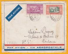 1935 - Devant D'enveloppe De Dakar Avion Vers Toulouse - Ligne Mermoz - Aéropostale Air France - Affrt 3f50 - Senegal (1887-1944)