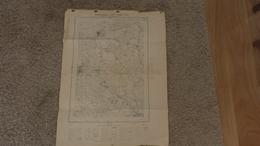 VALLERY BLENNES VILLECHASSON CORNOY VOULX  LES CHAPELLES BONVAL DIANT MONTMACHOUX ST AGNAN ( JANVIER 1946 1/20000 ) - Carte Geographique