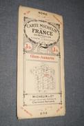 Très Ancienne Carte Michelin,N° 20 , Gien - Auxerre.état De Collection,originale - Geographical Maps