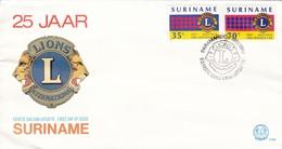 LIONS INTERNATIONAL. SURINAM/SURINAME - CIRCA 1982 - FDC - BLEUP - Surinam