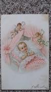 CPA ENFANT BEBE DANS SON BERCEAU ANGELOTS - Dessins D'enfants