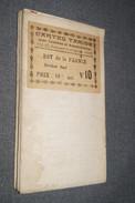 Très Belle Ancienne Carte Taride (sur Toile) Pour Cycliste Et Automoblistes,Est De La France,section Sud,N°10,collection - Roadmaps