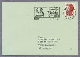 France 1985 Cyclo - Cross Professionnel Nolay Sonderstempel Commemorative Postmark La Rochepot - Ciclismo
