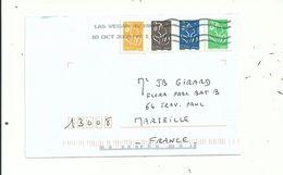1 L à 1.11 Euro.avec 4 LAMOUCHE  Oblitérés LAS VEGAS...(USA)...........à Voir. - France