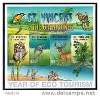 ST.VINCENT   3036 MINT NEVER HINGED MINI SHEET OF ECO TOURISM ; FAUNA ; FLORA # M-1076  ( - Non Classés