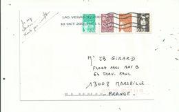 1 L à 1.02 Euro +0.30fr.avec 4 TIMBRES.....  Oblitérés LAS VEGAS...(USA)...........à Voir. - France