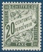 FRANCE NEUF** LUXE Taxe Y&T N°31   Valeur: 15,00 - 1859-1955 Mint/hinged