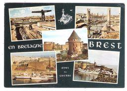 BREST, Finistère; PORT De GUERRE ; Multivues; Bateaux ; Pont Levant ; TB - Brest