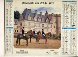 CALENDRIERS ( 1971) CHATEAU  DE  VILLANDRY - Big : 1971-80