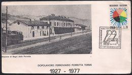 Stazione Di Bagni Della Porretta  Dopolavoro Ferroviario Porreta Terme 1927 - 1977 (carton édité Pour Le Cinquantenaire) - Cartes