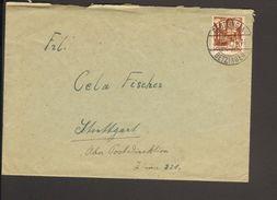 Frz.Zone Württ. 20 DPfg.Persönlk.u.Ansichten Auf Fernbrief Aus Reutlingen-Betzingen V.13.10.1948 Einkreis-Stegstempel - Zone Française