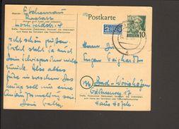 Frz.Zone Baden 10 Pfg.Ganzsache P 2 M.Notopfer 1949 Aus Rastatt - Zone Française
