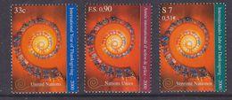 UNO 2000 NY, Geneva, Vienna  International Year Of Thanksgiving 3x1v ** Mnh (36906A) - Gezamelijke Uitgaven New York/Genève/Wenen