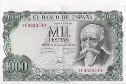 Billet : ESPAGNE . MIL 1000 PESETAS . 17/09/1971 . SERIE N° 4C3626549 / ETAT PROCHE DU NEUF - [ 3] 1936-1975: Regime Van Franco
