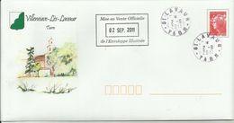 PAP Villeneuve-Les-Lavaur (Tarn) Premier Jour 02.09.2011 - Prêts-à-poster:  Autres (1995-...)