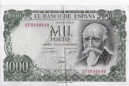 Billet : ESPAGNE . MIL 1000 PESETAS . 17/09/1971 . SERIE N° 3T4840840 / TTBE - [ 3] 1936-1975: Franco