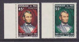 Mali 1965 Abraham Lincoln 2v ** Mnh (36906D) - Mali (1959-...)