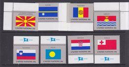 UNO NY 2001 Flags 8v ** Mnh (36906D) - New York - Hoofdkwartier Van De VN