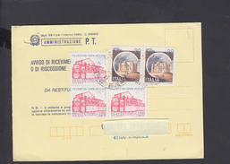 ITALIA 1984 - Avviso Di Ricevimento Con Sassone 1592 - Storia - Vespri Siciliani - 6. 1946-.. Repubblica