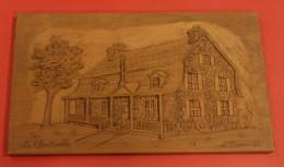 Sculpture Sur Bois - Acheté Chez Mme Edith Butler, Artiste: L. Perreault, Arriere: Sept 79 Edith Butler Felicitation - Wood