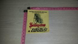ET-362 SOLDEPENAS PATROCINADOR OFICIAL DEL PREMIO POR EQUIPOS VUELTA A ESPANA 87 CICLICMO CICLISTA - Etiquettes
