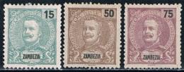 Zambézia, 1903, # 46, 48, 50, MH - Zambeze